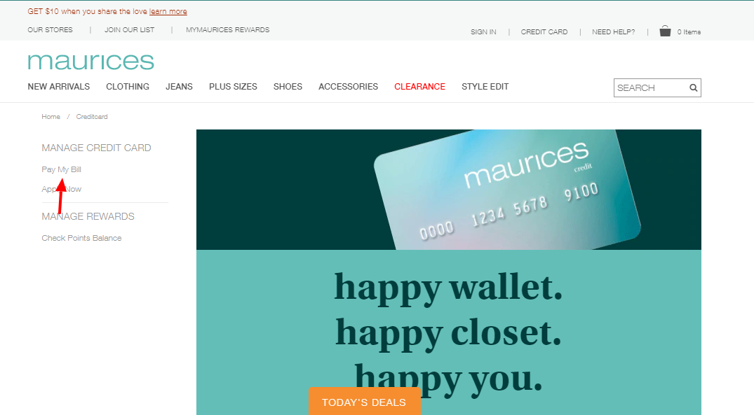 maurices credit card Pay bil