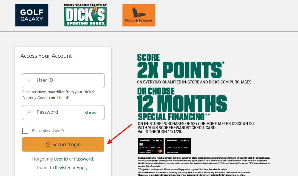 ScoreRewards Credit Card Login
