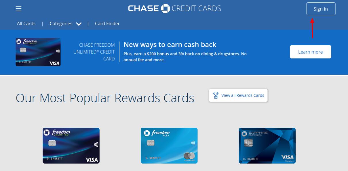 Chase Sapphire Preferred Card Login