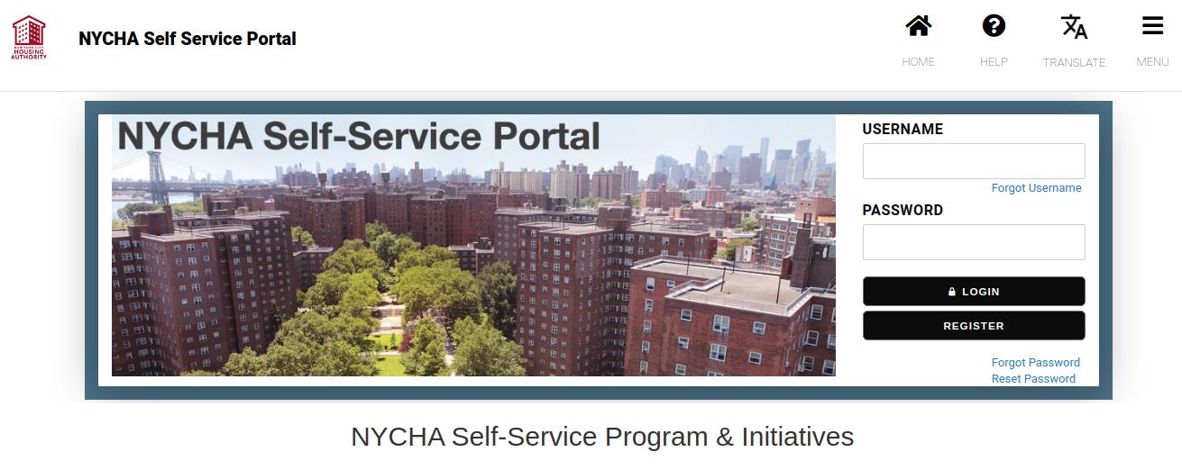 NYCHA SelfService Login