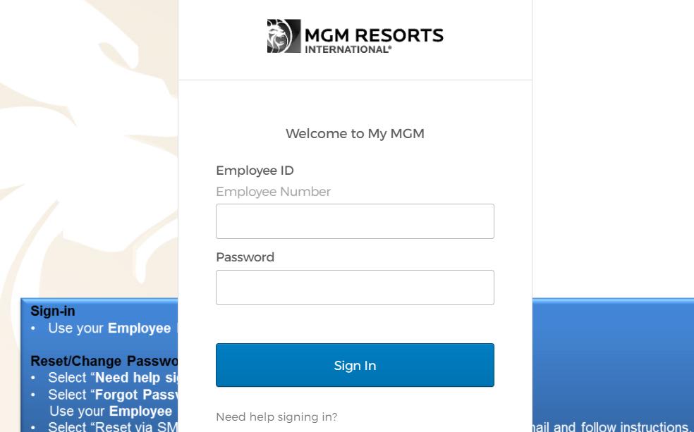 mgm resorts prod login