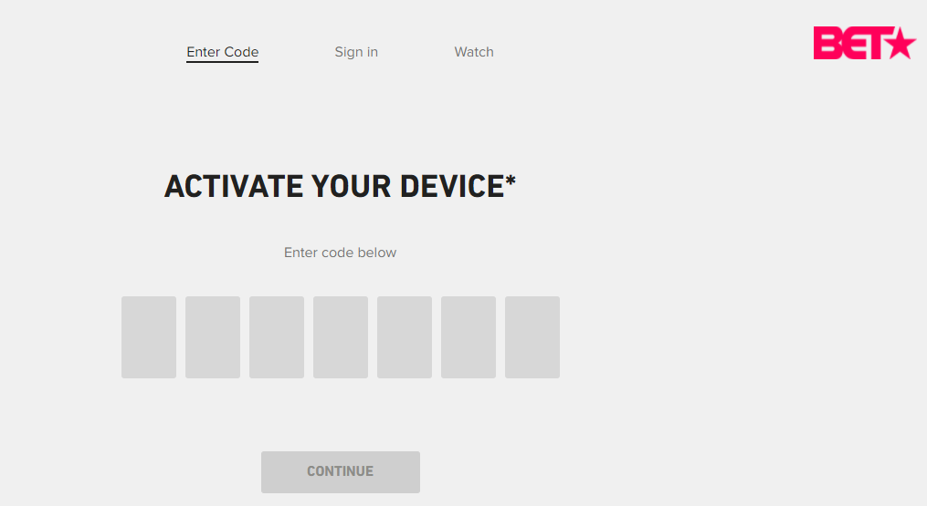 BET Device Activation